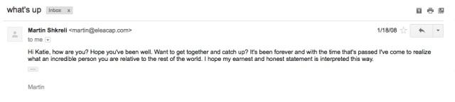 Martin Shkreli Email Redacted
